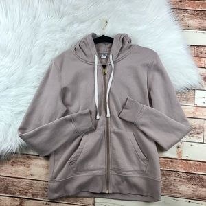 Old navy dusty rose pink zip up hoodie